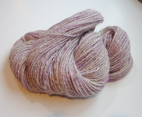 White Alpaca & Purple Silk 2Ply