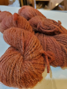 Brown Alpaca overdyed Red