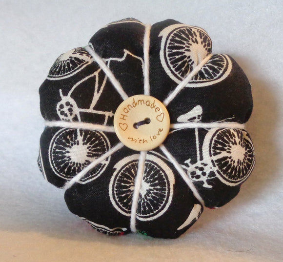 Bicycle Print Pin Cushion