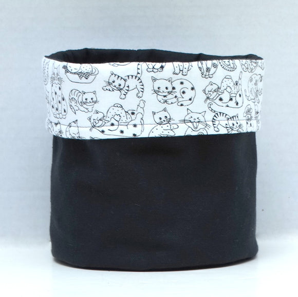 Black & White Cat Print Bin
