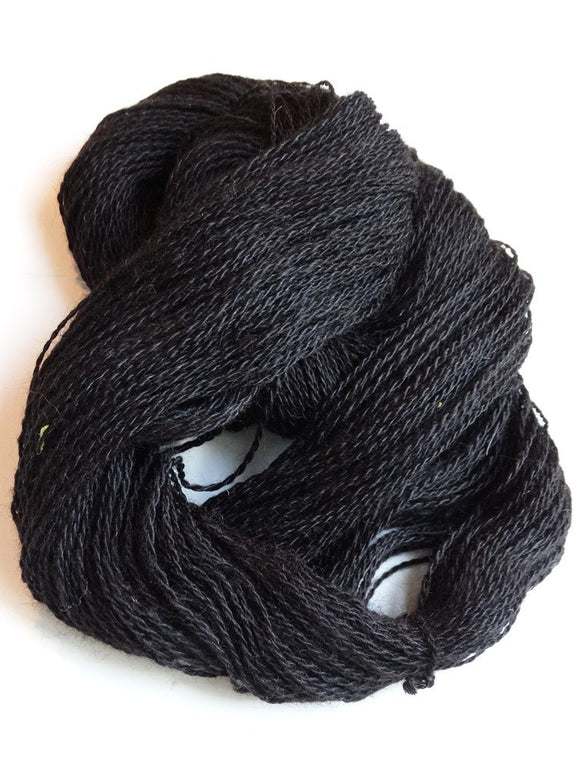 Black Fingering Yarn ~ Mill Spun