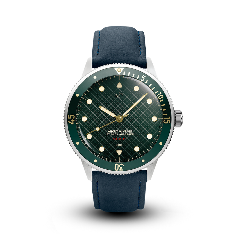 1926 At'sea, Steel / Green Turtle Vintage – 39MM