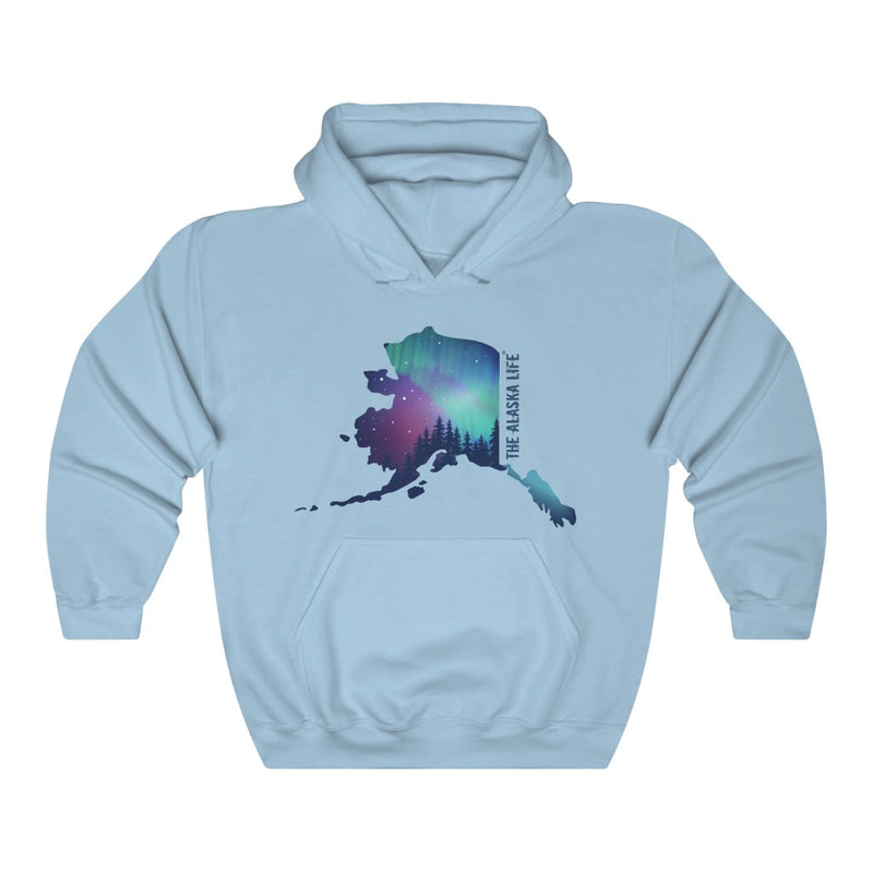 Unisex Heavy Blend™ Hooded Sweatshirt Alaska Aurora Design