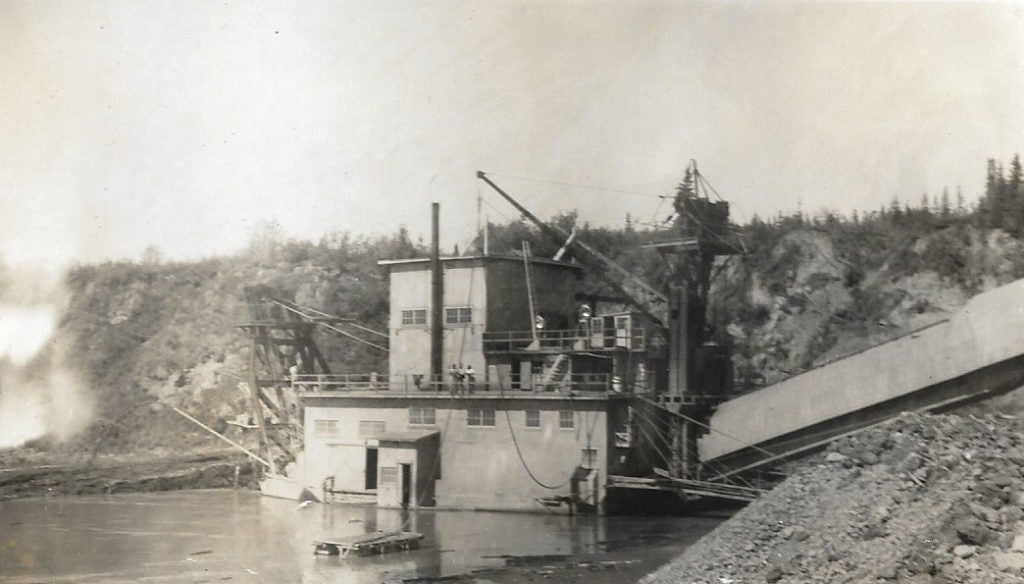 Gold Dredge #8 - Malachy worked on this dredge in 1952