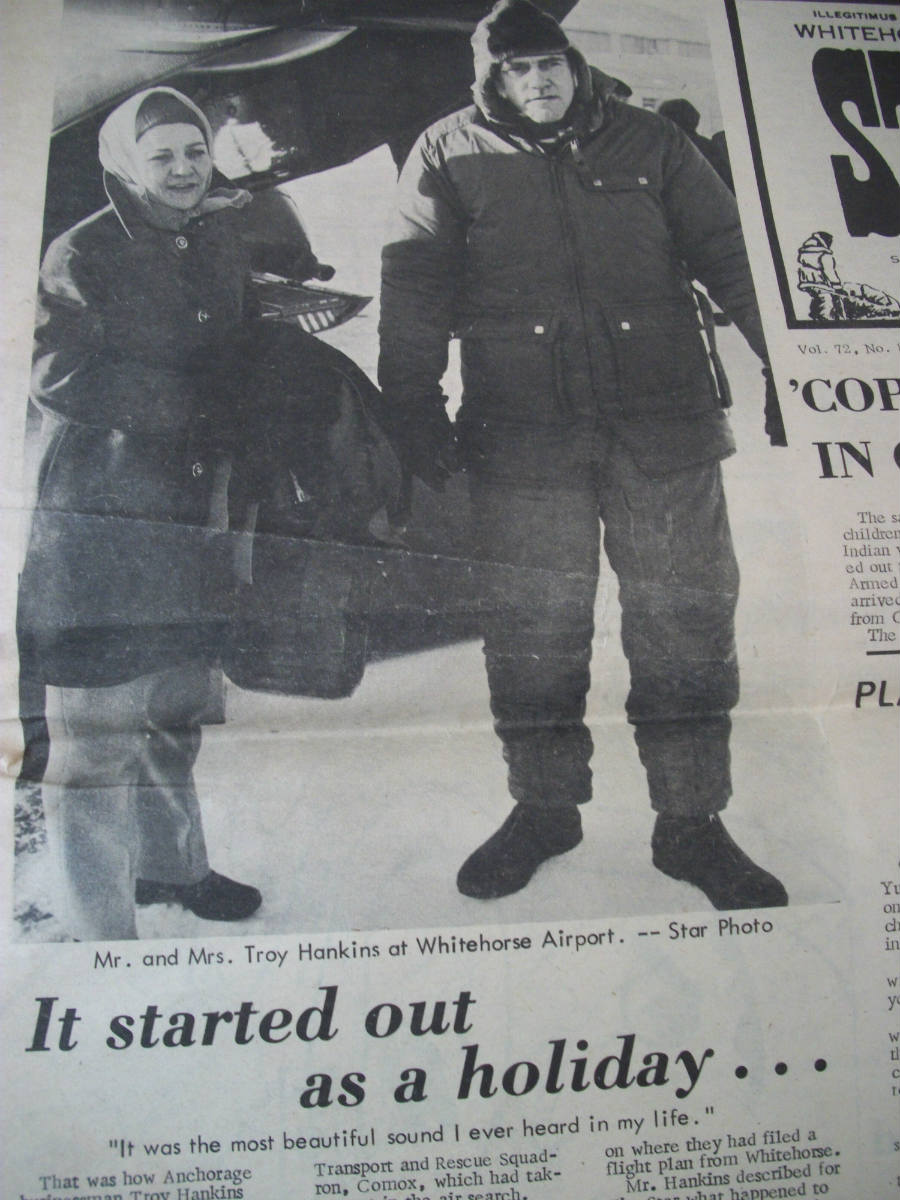 newspaper clipping from 1972 detailing the plane crash The Master Pilot Surviving Against the Odds