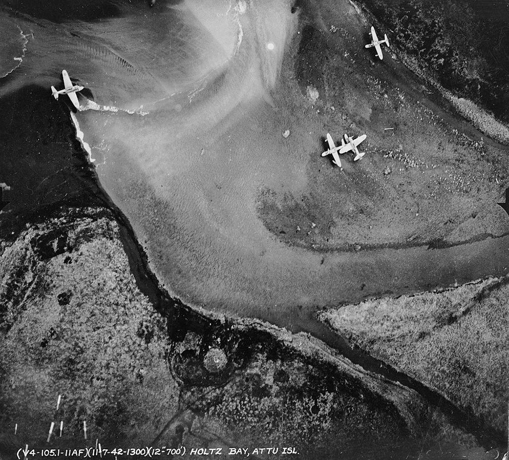 Japanese fighters at Holtz Bay
