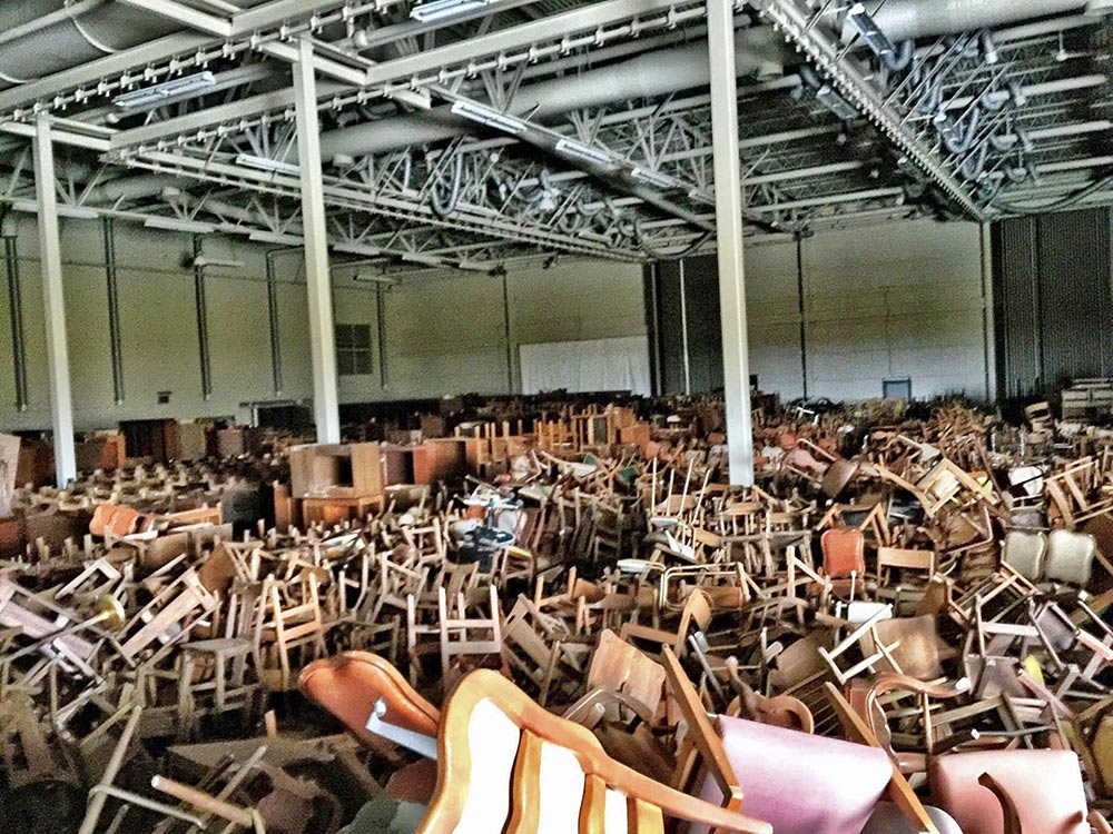 Mythical Furniture Warehouse - This is over an acre of 1950's - 1980's furniture from the old Navy base.
