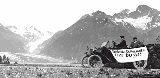 First car on the Richardson Highway, Alaska, in 1913
