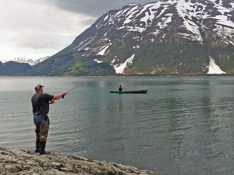 "Kalb Stevenson is an experienced biologist and fisherman and a long-time Alaskan. He is the owner of Axiom Environmental, a consulting company based in Anchorage, Alaska. Dr. Stevenson has authored numerous peer-reviewed articles, agency reports and popular press pieces in the areas of fish and wildlife ecology and environmental science. He enjoys spending time with family and friends and fishing around the state. This article originally appeared in the July 2014 issue of Last Frontier Magazine. If you enjoyed this article, check out ""Alaska's Aggressive Arctic Grayling"", ""Situk River Fly Fishing For Spectacular Spring Steelhead"", ""Urban Salmon Fishing on Ship Creek in Anchorage"", and ""King Salmon Fishing on the Deshka River."""