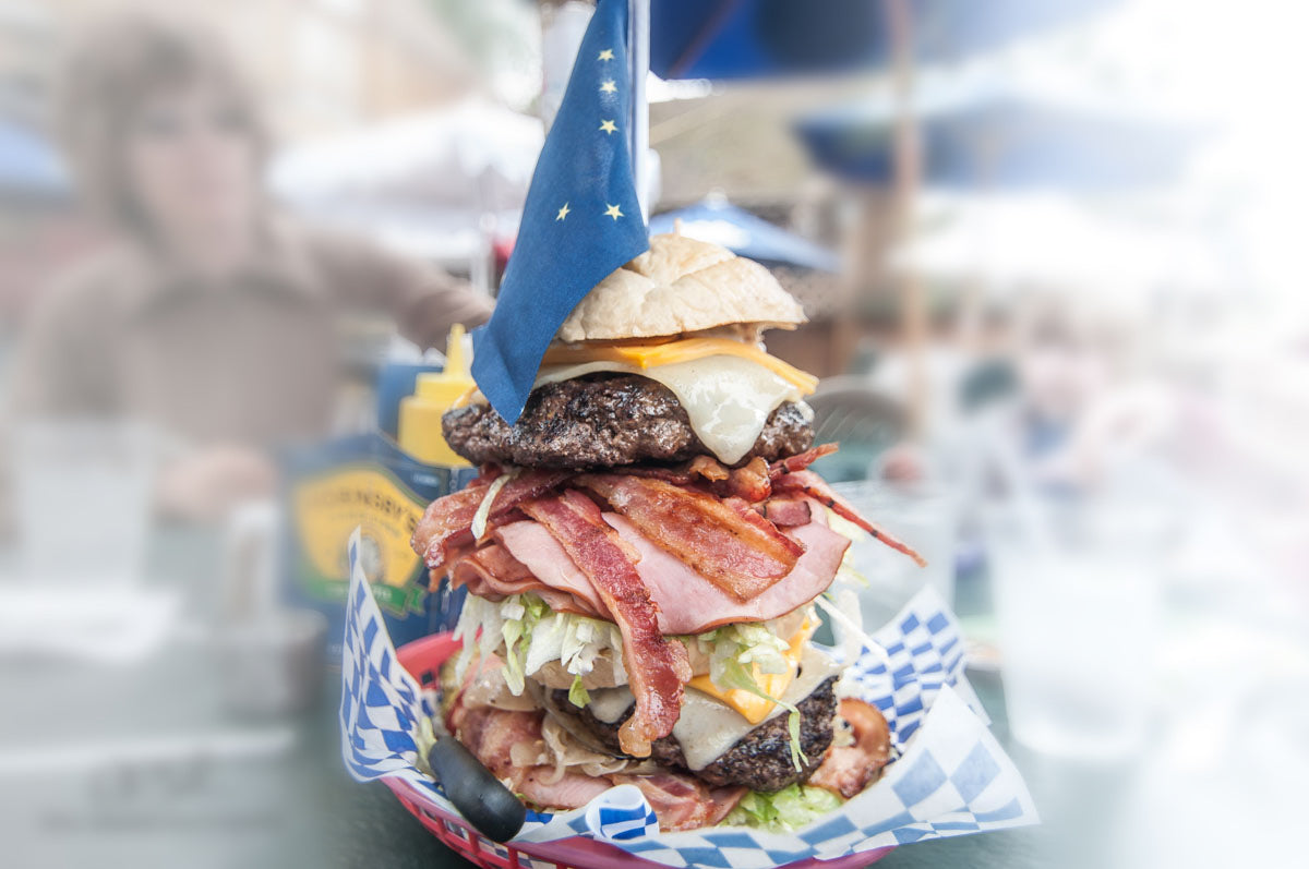 Seward's Folly Burger - 5lbs. of Amazing - photo by Cecil Sanders
