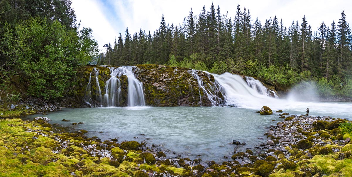 Eagle River Falls Pano by Brian Weed