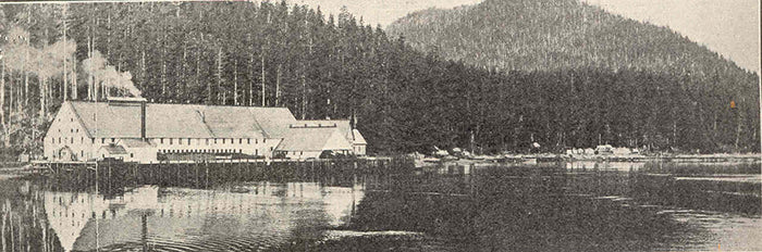 Cannery at Chatham, Geo T Meyers & Co, Packers Alaska Salmon. Alaska Ghost Towns.