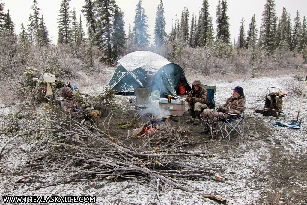 a record breaking alaskan bull moose cold weather camping