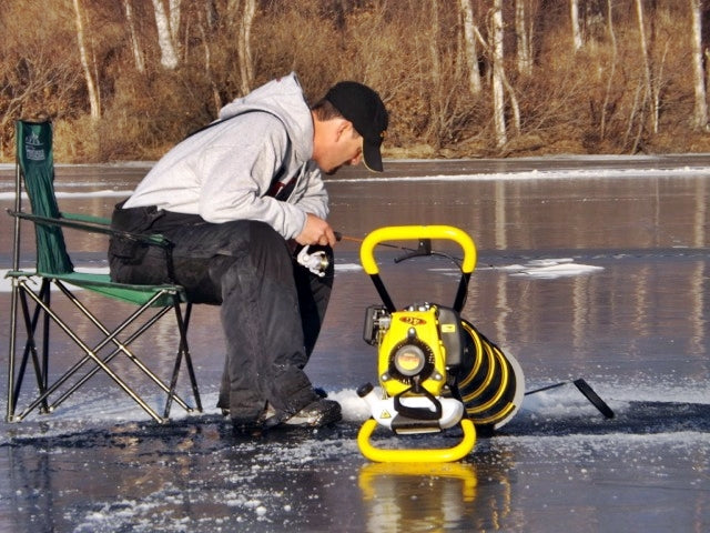 choosing the right ice auger jiffy ice auger