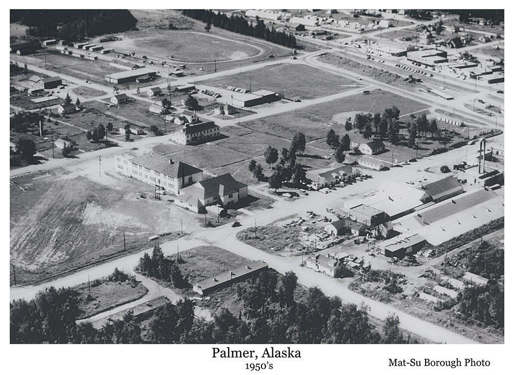 A view of Palmer in the 1950's. The Trading Post.