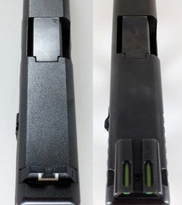 practical glock modifications extended slide release top view