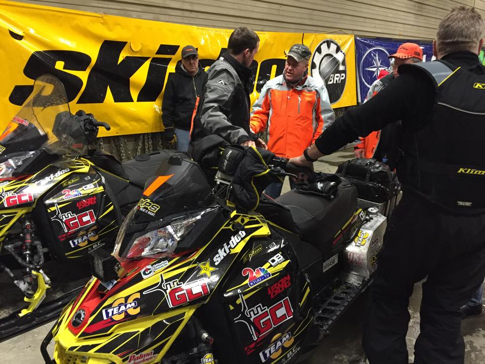 Windshield Damage to Scott Davis's sled in Nome