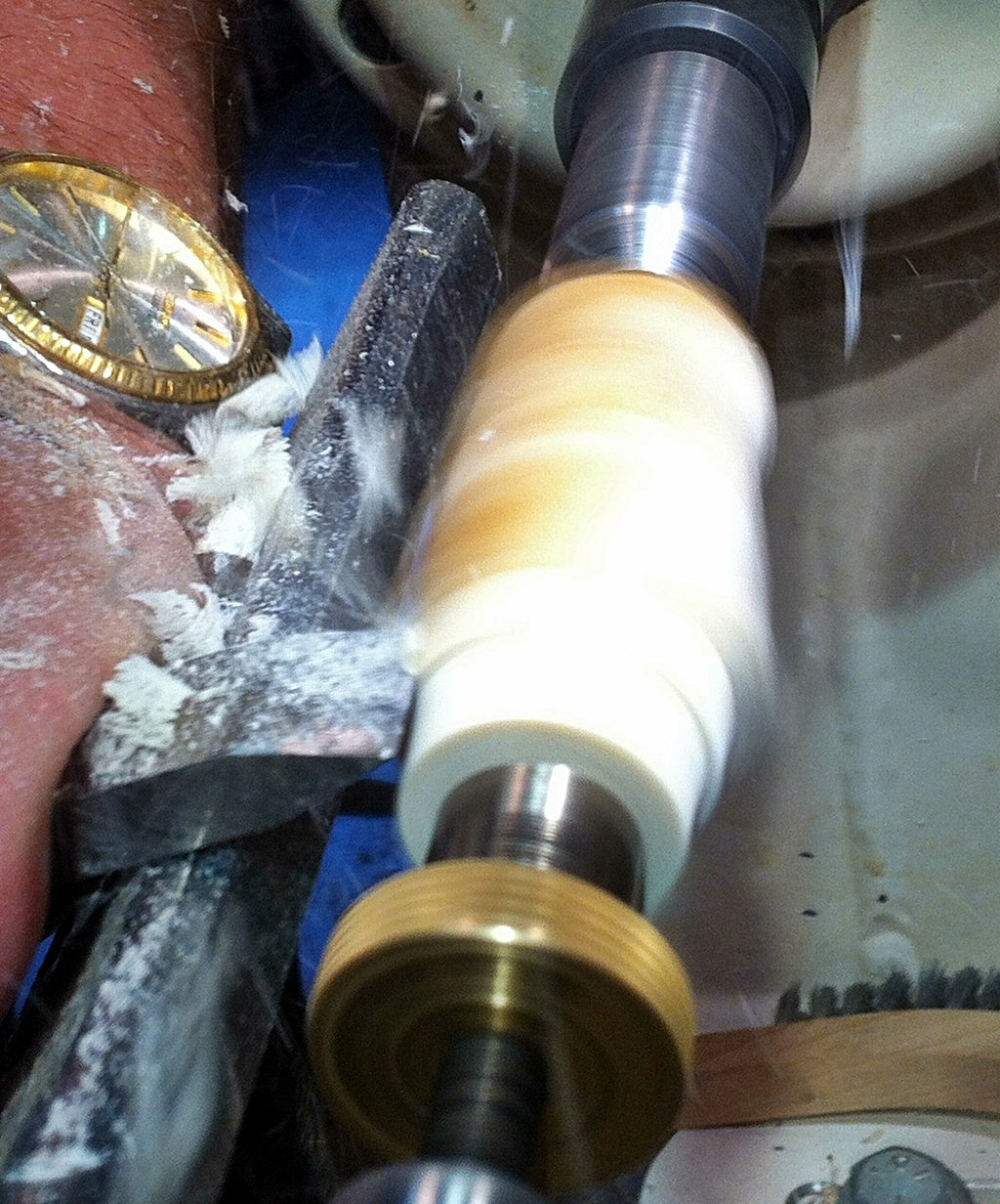 antler bullet pen shaping and turning