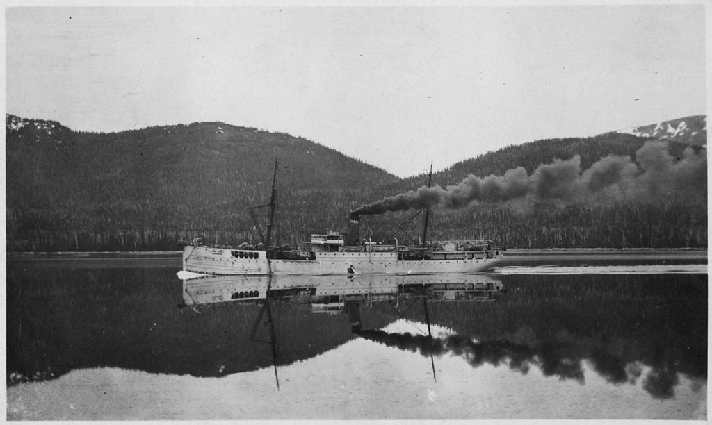 U.S. cable ship Burnside in Wrights' Sound - Mrs. Eardly - U.S. National Archives and Records Administration