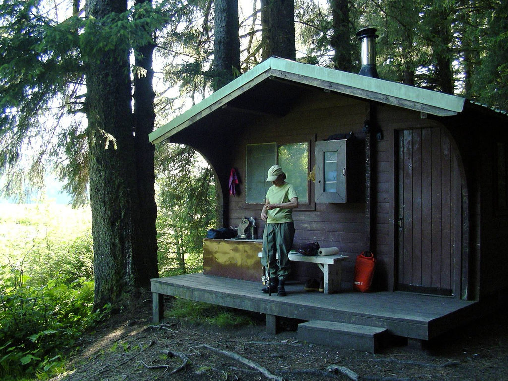 Forest service cabin on Admiralty Island