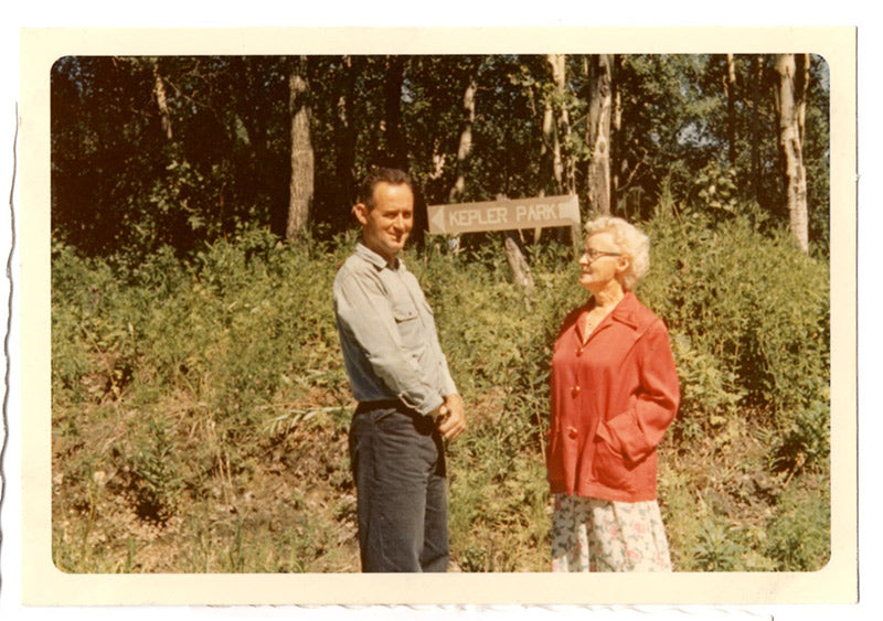 an image of Dave Kepler and mother Harriet,