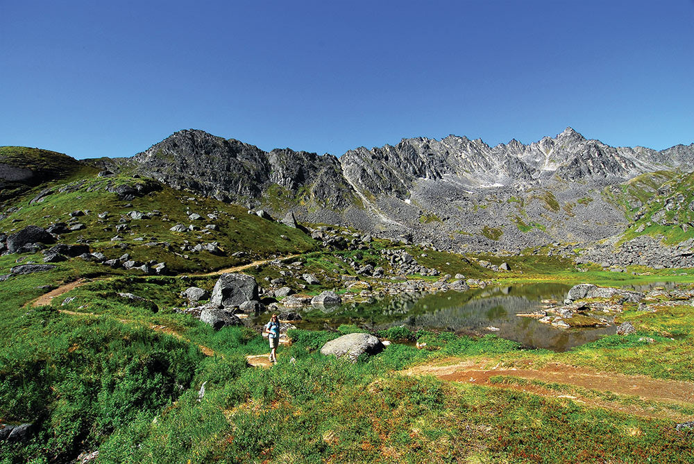 The trail to Lane Hut in Hatcher Pass.