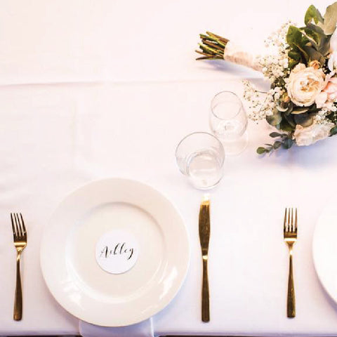 foiled wedding placecards