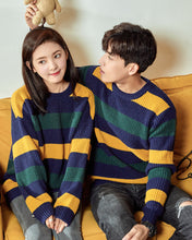 #CP17026 Stripe Round Neck Sweater