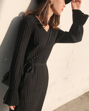 #WR12004 Knitting Long Slim Dress