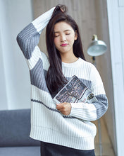 #CP17024 Stripe Gray Sweater