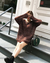 #WR12507 Loose Sweater Dress