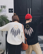 #CP17012 Feather Pattern Sweater