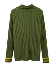 #CP17027 Stripe High Neck Sweater