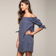 #AH17032 Off-the-shoulder dress with ties