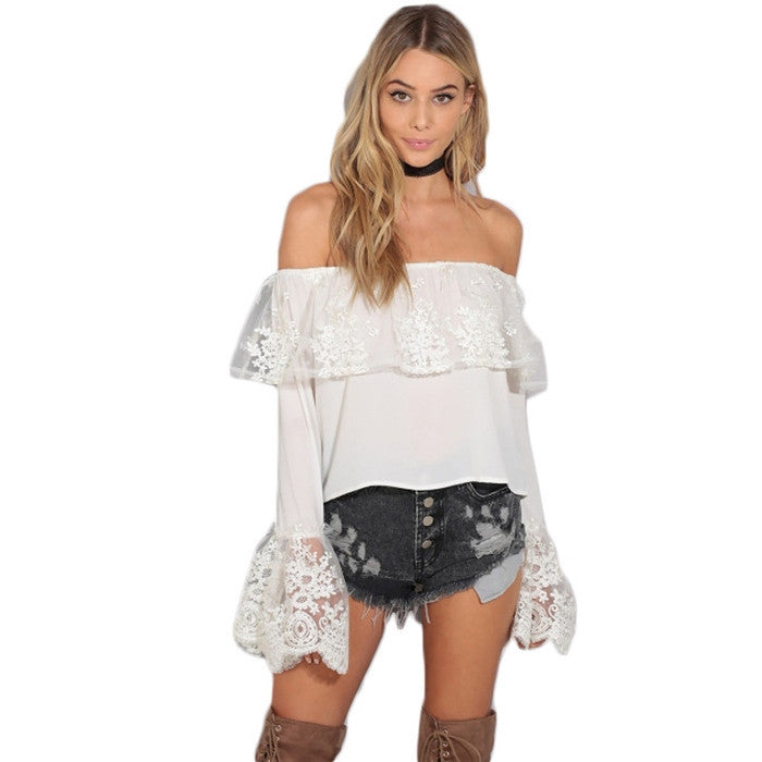 #TH17511 Lace-sleeved top