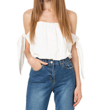 #TH17516 Off-the-shoulder top with ties