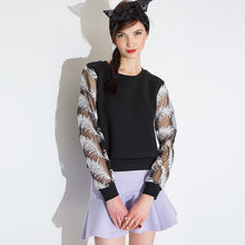 #TH17530 Feather-sleeved top