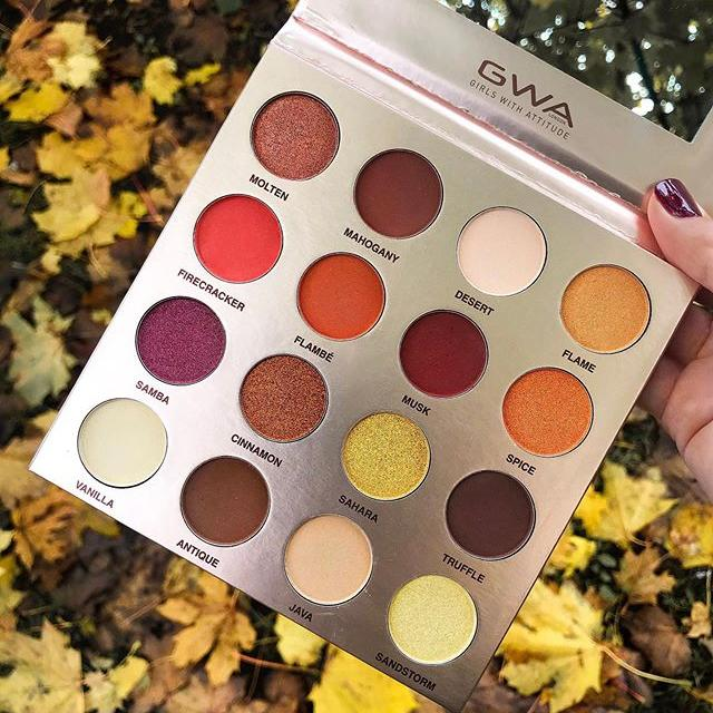 GWA Desert Dreams Palette - a mix of spicy oranges, rich golds, stunning berrys, ambers and warm browns