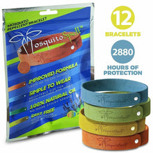 Load image into Gallery viewer, Mosquito_Repellent Bracelets 12pcs, 100% All Natural Plant-Based Oil Mosquito Bands, Non-Toxic Travel Insect Repellent, Soft Material For Kids & Adults, Keeps Insects & Bugs Away