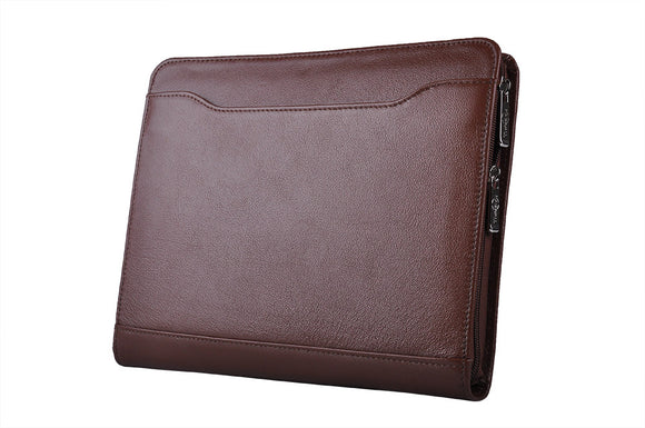 with pen loops, ID window, business card slots and organizer pockets