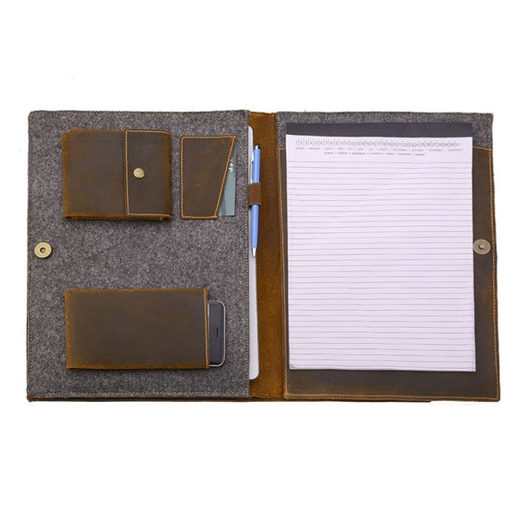 Fits a letter-size (8.5 x 11 inch) / A4-size notepad or notebook (not included)