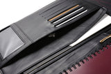 Slim, easy-to-carry design leather padfolio