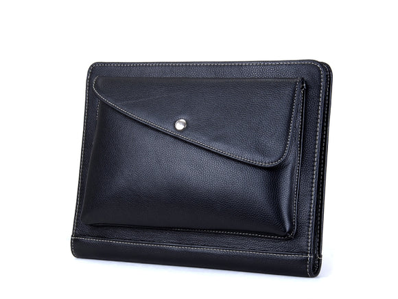 Executive Organizer Padfolio with Pouch Pocket, for iPad Mini and Letter-Size Paper, Black