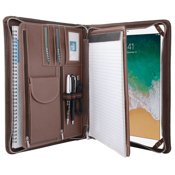 This padfolio fits for 12.9 inch iPad Pro. (Device not included.)