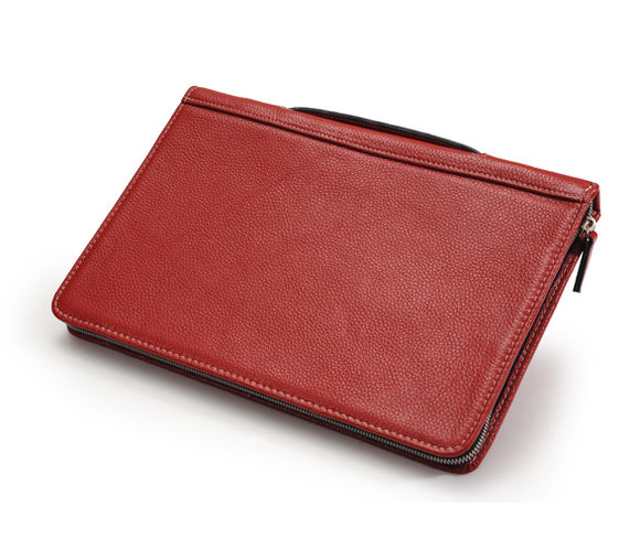 Leather Portfolio-Style MacBook Air Sleeve With Handle