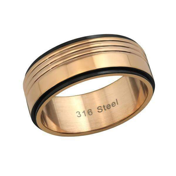Stainless Steel Rose Gold Wedding  Band Ring