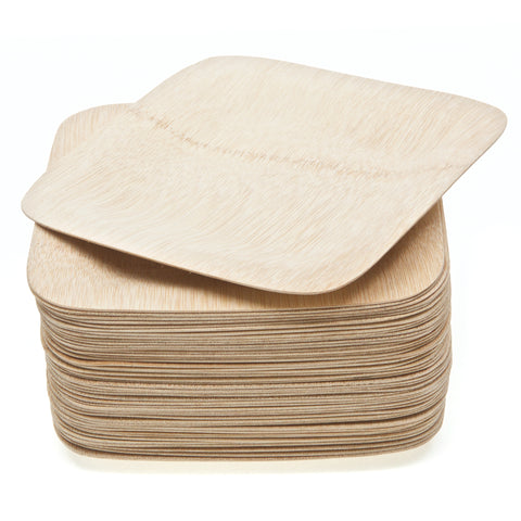 Reusable Bamboo Square Plates