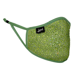 Kelly Green Crystal Face Mask