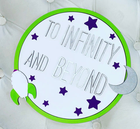 TO INIFINITY AND BEYOND PLAQUE