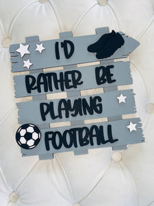 FOOTBALL CRAZY PLAQUE